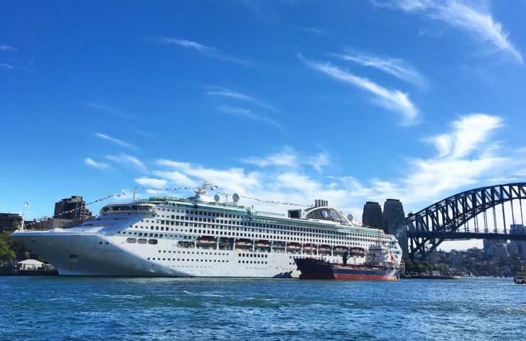 That time I was on board the Sun Princess!